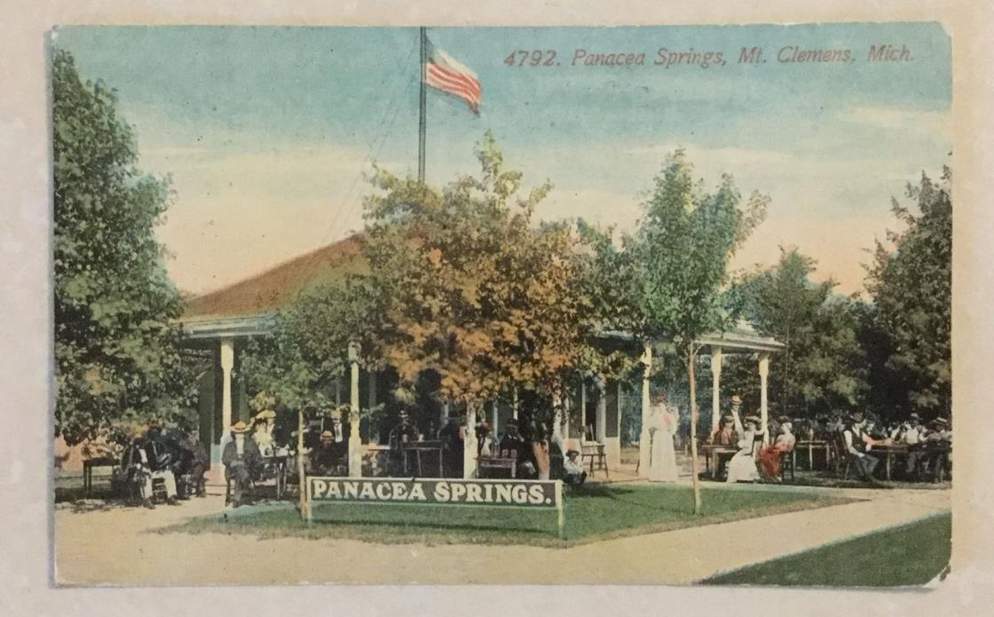 Mt. Clemens, Michigan Panacea Springs, 1912 Post Card