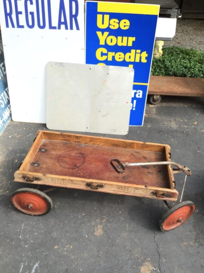 RARE Vintage Wooden DURO BILT RACER COASTER  WAGON  - from 1940's - Rare  Find!