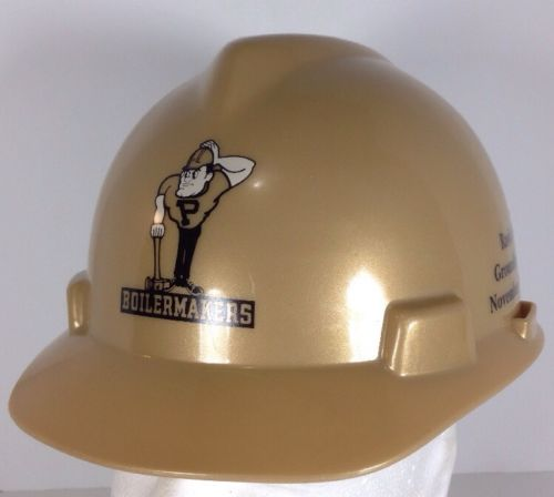 Purdue University Boilermakers Gold Hard Hat Rawls Hall Groundbreaking RARE