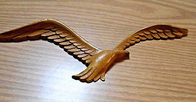 VINTAGE 1981 HOMCO BROWN TONE SEAGULL IN FLIGHT WALL HANGING BEACH THEME