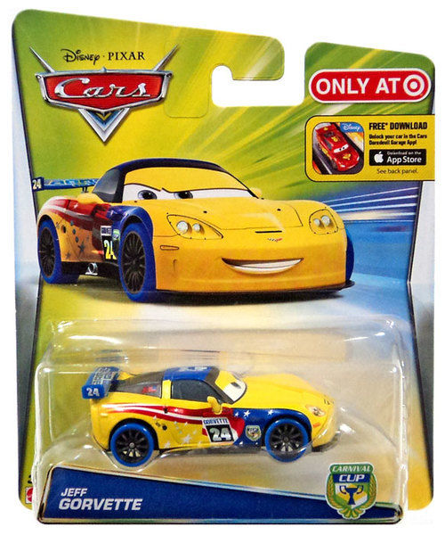 Mattel Disney Pixar Cars Carnival Cup Racers Jeff Gorvette Metal 1:55 Target NEW