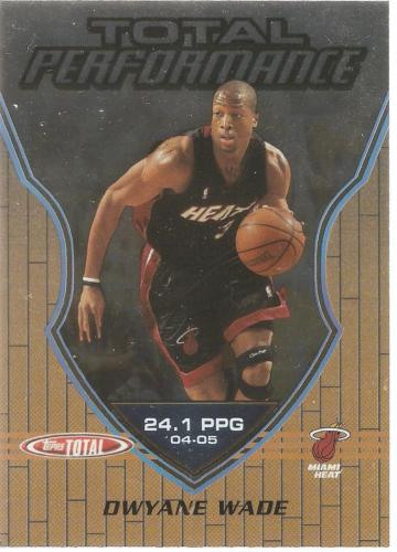 Dwyane Wade Topps Total 05-06 #TP20 Total Performance Miami Heat