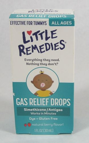 Little Remedies GAS RELIEF DROPS 1oz Simethicone antigas Natural BERRY 01/2018