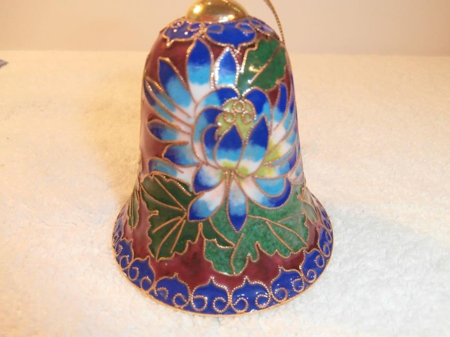 Vintage Chinese Cloisonne Enameled Bell 3 1/2