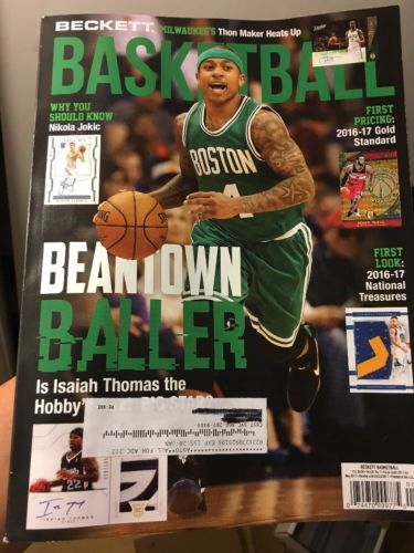 Isaiah Thomas Current May 2017 Beckett Basketball Monthly Issue Boston Celtics