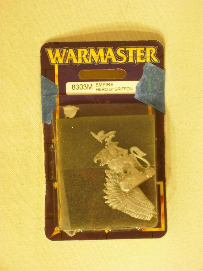 Warmaster Empire Hero on Griffon (8303M) NIB OOP Metal