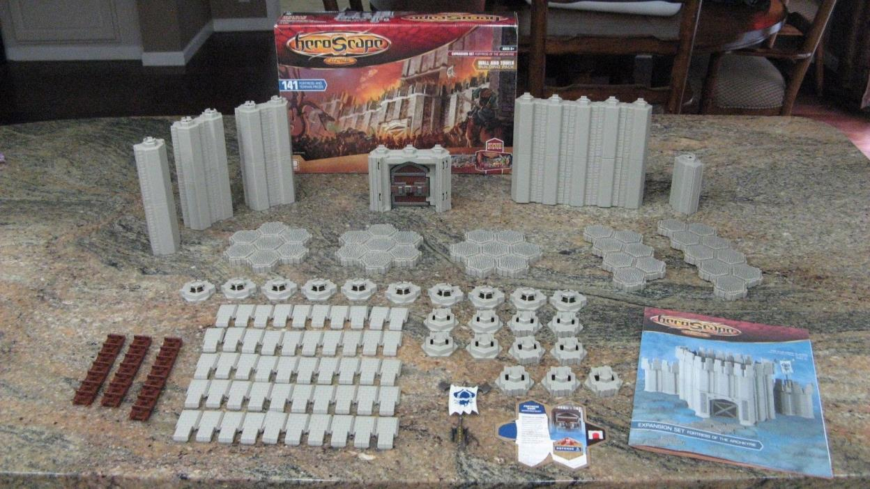 Heroscape Fortress of the Archkyrie Wall and Tower Building Pack - 100% Complete