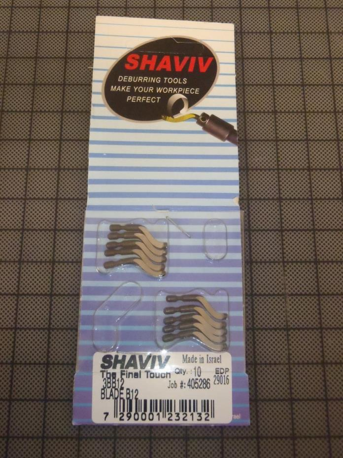 Ten Pack SHAVIV Short Nose Deburring Blades 3BB12 29016 !60D!