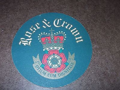 VINTAGE ROSE & CROWN BASS UNITED KINGDOM EPCOT CENTER WALT DISNEY BEER COASTER