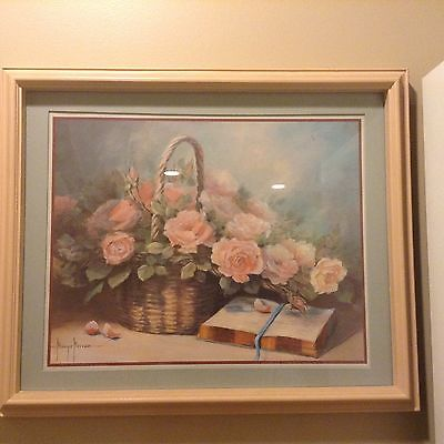 Flower Basket with open book Margie Morrow Signature Art Work