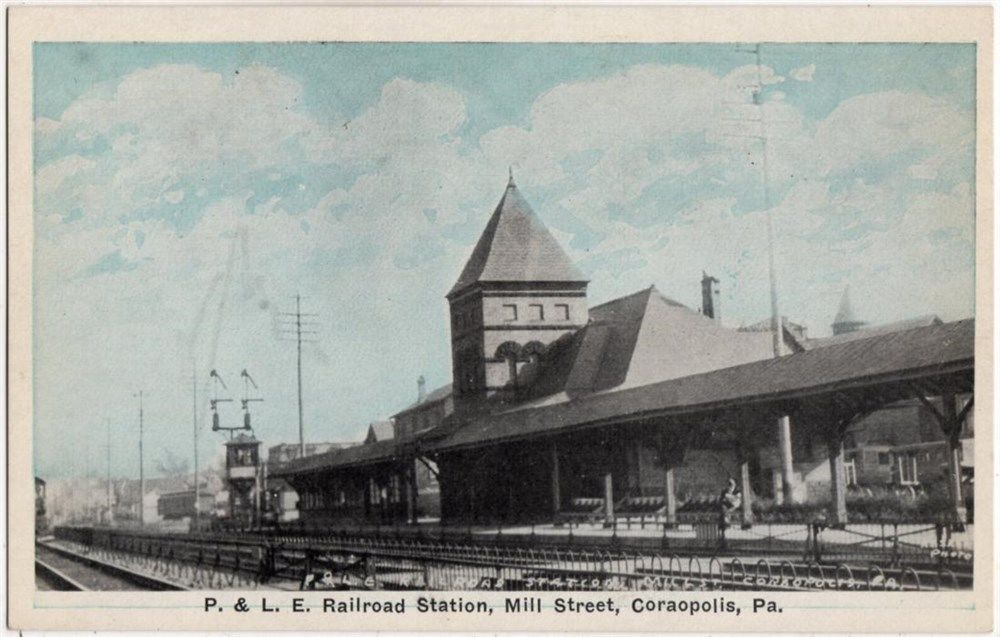 Coraopolis, PA - Mill Street  - P&LE Railroad Station