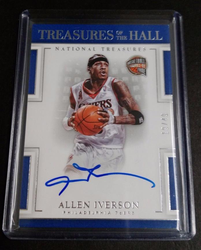 2016-17 National Treasures * ALLEN IVERSON TREASURES OF THE HALL AUTO /49