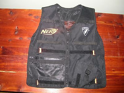 Nerf N Strike Nerf Brand Tactical Vest Black Good Used Shape NEXT DAY SHIP