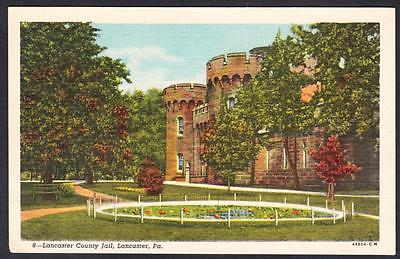 LANCASTER COUNTY JAIL Lancaster Pennsylvania Jail Postcard 3697