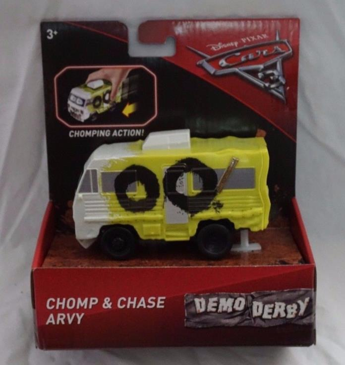 Disney Pixar Cars 3 Demo Derby Chomp & Chase Arvy NEW Mattel 2017