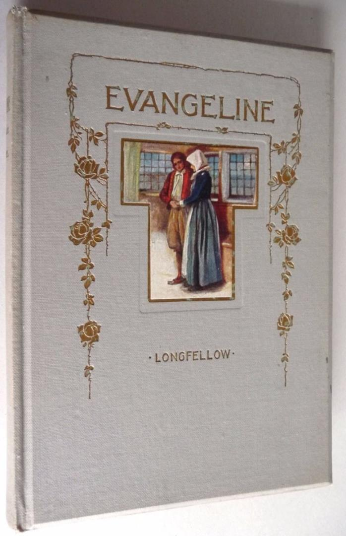Evangeline Henry Wadsworth Longfellow 1856 Poetry Poem Verse Antique Vtg HC