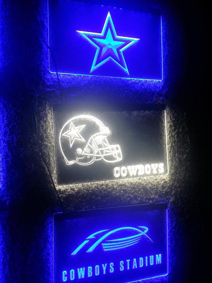 New Nfl Dallas Cowboys 8X11  Clear Helment Hang-Up Light Regular Season Any