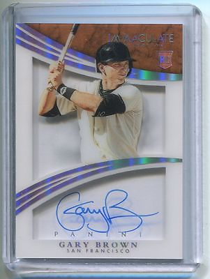 2015 Immaculate Shadowbox AUTOGRAPH PLATINUM Gary Brown 1/1 San Francisco Giants