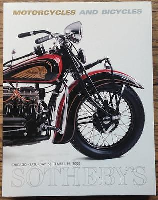 Sotheby's Motorcycles Bicycles Auction Catalog 2000 H-D 1915 F-11 twin foldout
