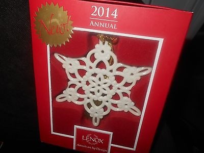 Lenox 2014 2015 Annual Snowfantasies Ornaments New In Box 1st Quality
