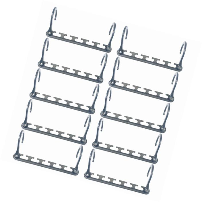 Clothes Hanger Organizer Effortless Rack Space Saver Storage Metal 10 Pack New