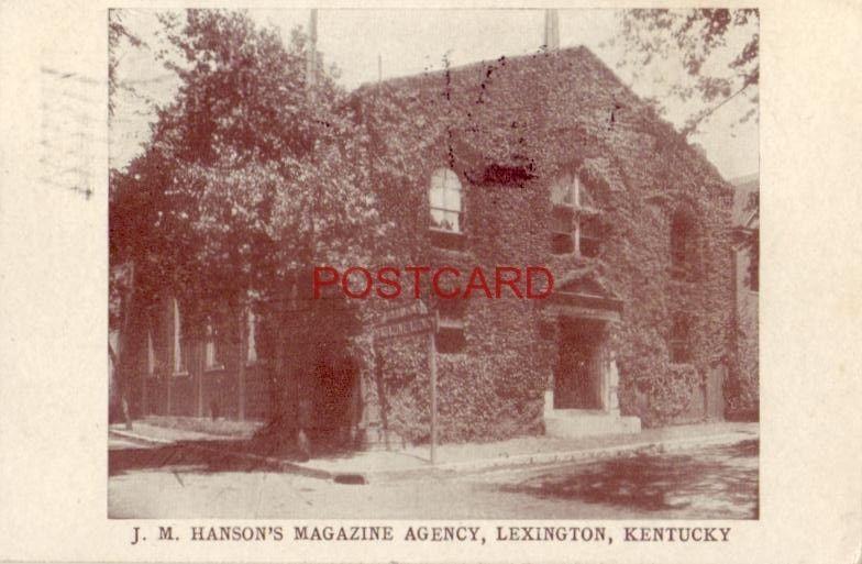 1908 J. M. HANSON'S MAGAZINE AGENCY, LEXINGTON, KY Thank you for your patronage