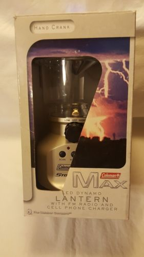 Coleman Max Led Dynamo Hand Crank Lantern W/FM Radio & Cell Phone Charger