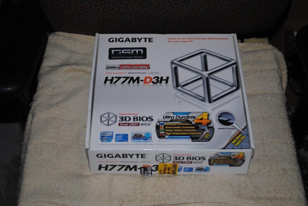 GIGABYTE GA-H77M-D3H LGA 1155 Intel H77 HDMI SATA 6Gb/s USB 3.0 Micro ATX Intel