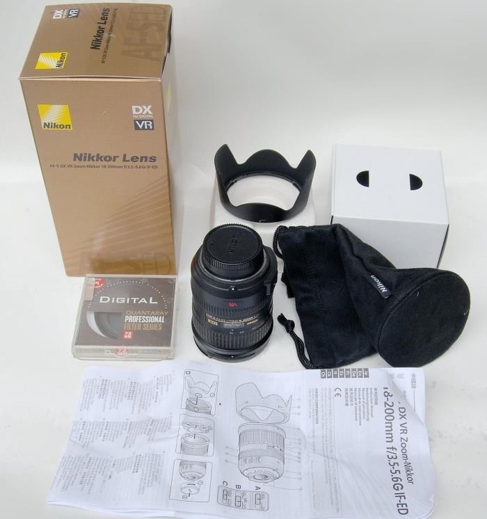 Nikon 18-200 AF-S G ED VR lens