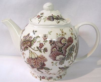 222 FIFTH Porcelain Teapot Gabrielle Pattern Brown Floral