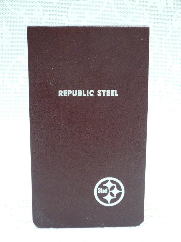 Vtg Republic Steel Corporation Grid Paper Notebook Unused Cleveland Ohio USA