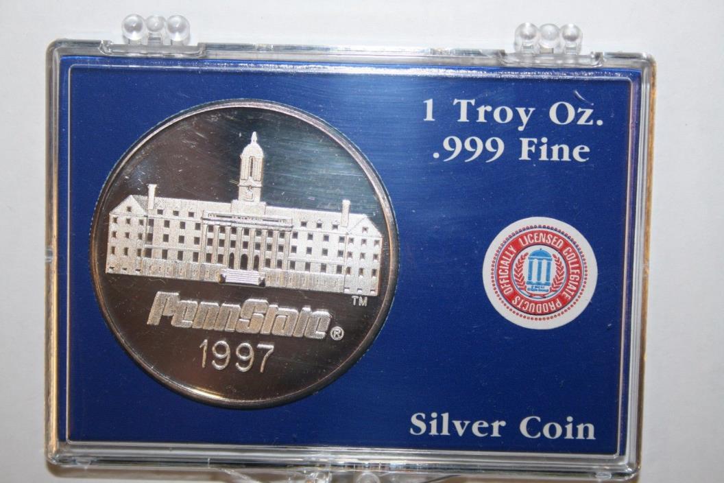 1997 Penn State 1 oz Silver Round .999