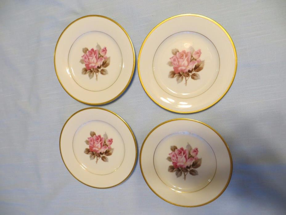 Vintage Noritake China Rosetta (M)Set of 4 Bread Plates 6 1/4