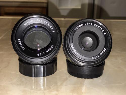 Nikon Series E 35mm 2.5 & Nikon Series E 100mm 2.8 READ