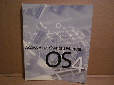 Access Virus OS4 - Owner's Manual - c. 2000