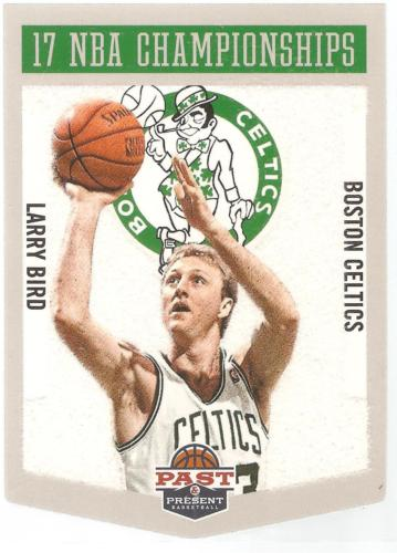 Larry Bird Panini Past and Present 12-13 #8 NBA Championships Boston Celtics