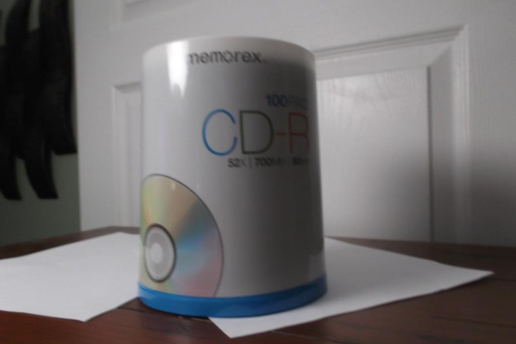Brand NEW 100 Paq (Pack) SEALED Memorex CD-R 52x. 700Mo, 80Min,