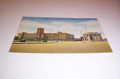 111 - Atlantic City's High School and War Memorial, Atlantic City, N.J. Postcard