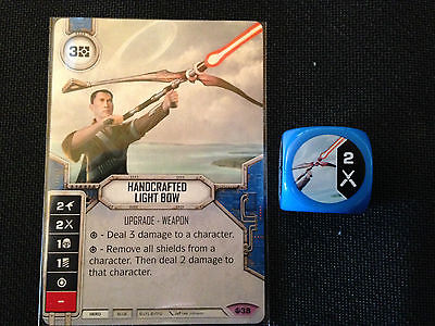 Handcrafted Light Bow (SoR) - Star Wars Destiny Singles - Near Mint Card and Die