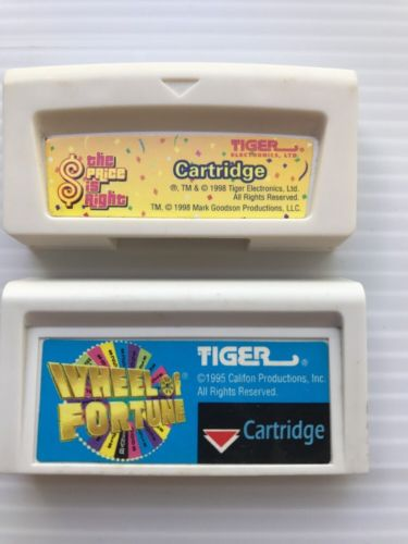 Tiger Wheel of Fortune & The Price is Right Game Cartridges LOT Of 2 Cartridges