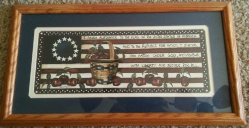 Home and Garden Party Framed Print pledge of allegiance americana apples