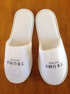 Trump Slippers With Pouch Unworn Unisex One Size