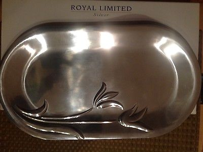Royal Limited Silver Tulip Oval Platter
