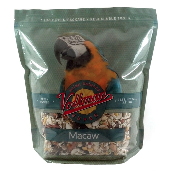Volkman Avian Science Super Macaw Food Nutritionally Balanced Diet Mix, 4 Lbs