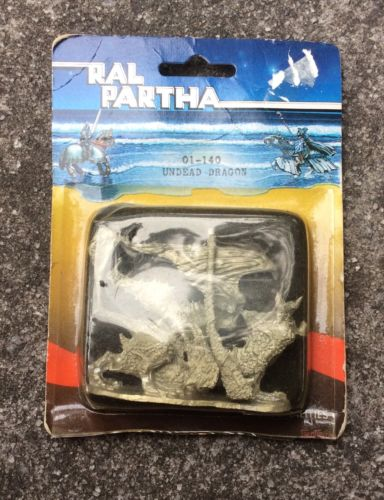 Ral Partha 01-140 Undead Dragon Vintage Miniature