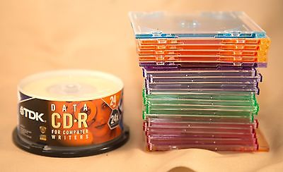 TDK DATA CD-R FOR COMPUTER WRITERS 25 PACK MINI DISK & Cases