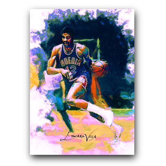 Connie Hawkins #4 Sketch Card Limited 11/25 Edward Vela Signed