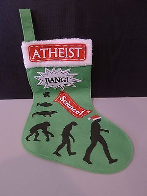 ATHEIST NOVELTY CHRISTMAS STOCKING