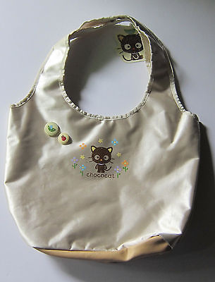 Cute Sanrio Chococat Satiny Nylon Beige Tote Bag New w/ Tag Never Used