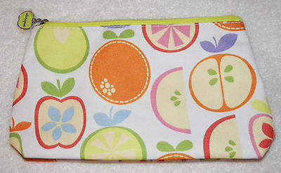 CLINIQUE - Adorable MAKEUP / COSMETIC BAG with APPLES, ORANGES, LIME PRINT